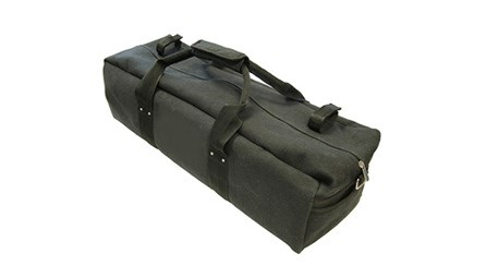 A canvas bassoon and contrabassoon stand bag for sale at Double Reed Ltd. The price of this stand bag is £24.50