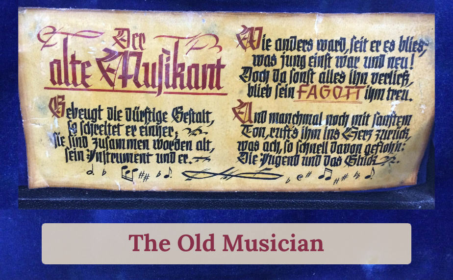 The old musician - bassoon poem