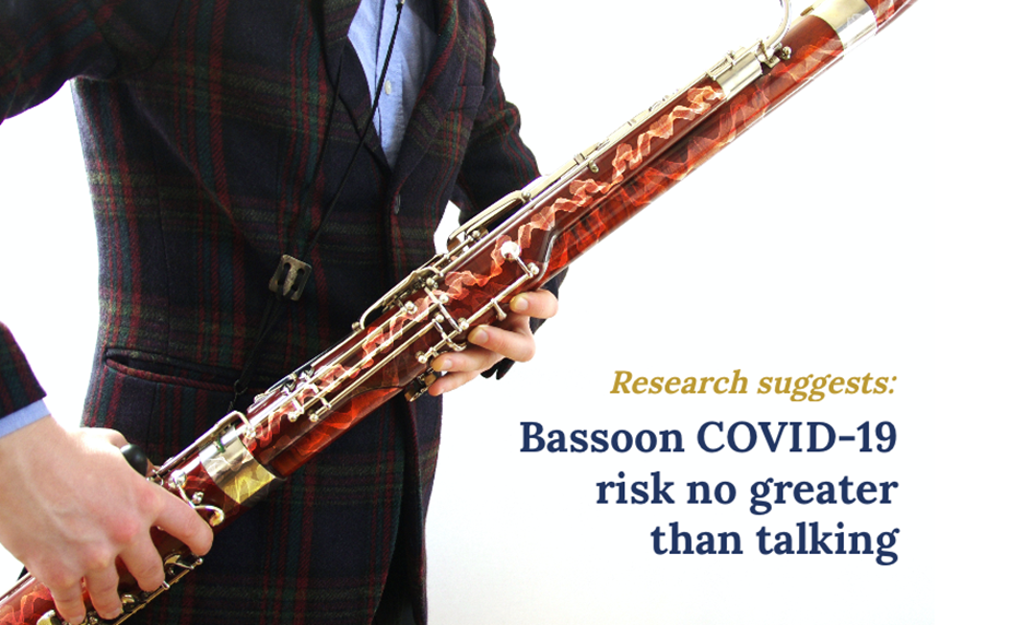 Bassoon COVID-19 risk no greater than talking