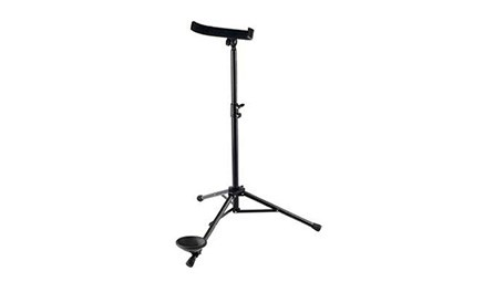 The latest Konig and Meyer contrabassoon stand (K&M 15045) for sale at Double Reed Ltd. The price of this adjustable contrabassoon stand is £104.50