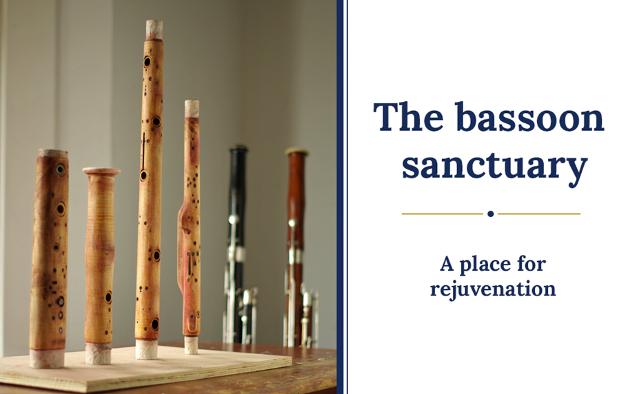 The bassoon sanctuary at Double Reed Ltd.