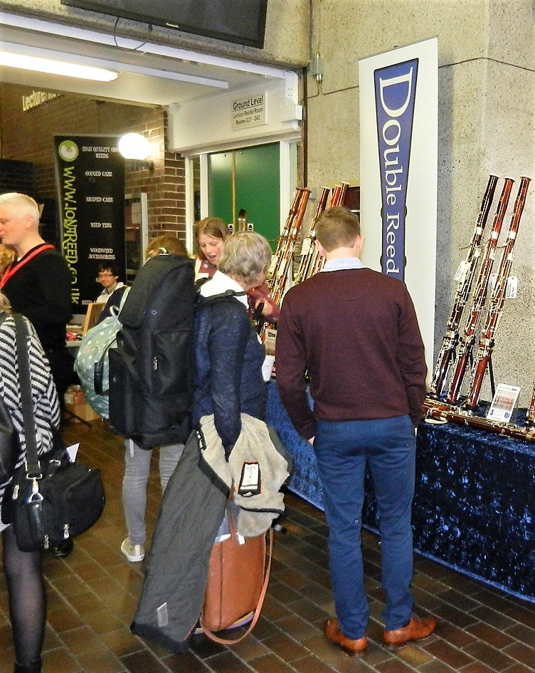 Oliver Ludlow, Director of Double Reed Ltd., at the Double Reed Ltd. exhibition stand at the Big Double Reed Day 2016