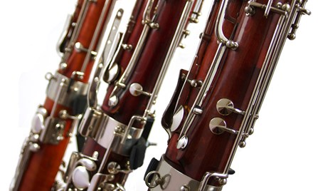 Three second hand bassoons in a row at Double Reed Ltd.