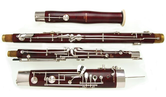 A second hand Heckel 7000 bassoon for sale in pristine condition. The bassoon has just been fully overhauled by Double Reed Ltd. and is in superb playing order.