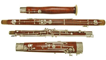 A charming second hand 4000 series Heckel bassoon for sale at Double Reed Ltd. - the price of this bassoon is £12000
