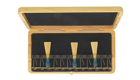 Real wood reed case for 12 bassoon reeds from EM