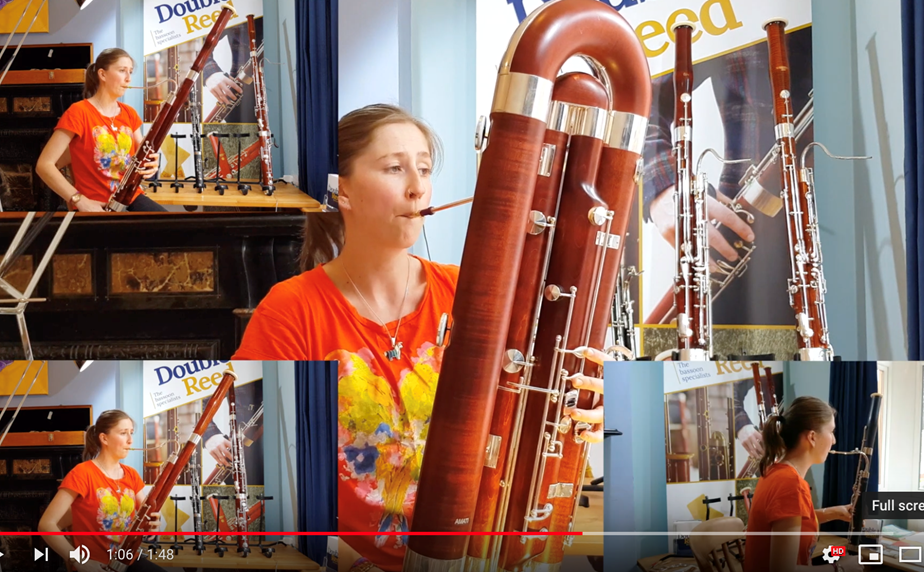 Bassoon quartet: Hear a contrabassoon, two bassoons and a mini bassoon!